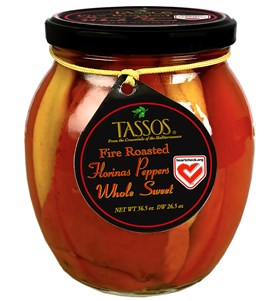 Whole Sweet Florinas Peppers Fire Roasted