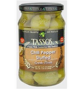Chili Pepper Stuffed Greek Olives