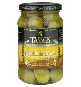 Halkidikis Green Greek Olives