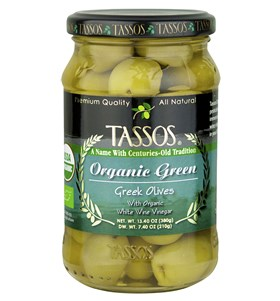 Organic Green Greek Olives
