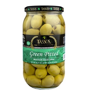 Green Pitted Mammoth Greek Olives