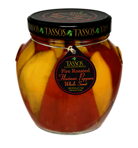 Fire Roasted Whole Sweet Florinas Peppers 1.7L