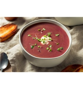 Roasted Red Pepper and Eggplant Soup