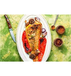 Sea Bass with Roasted Sweet Peppers